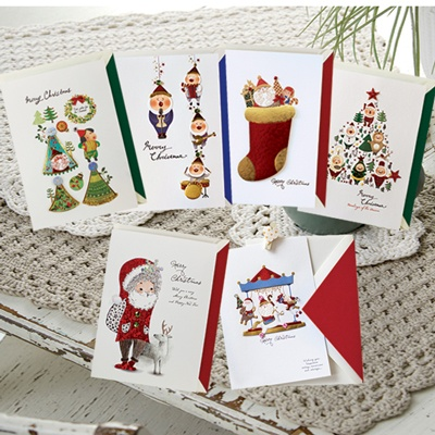 크리스마스카드/성탄절/트리/산타 세트 산타의선물(FS202SET)