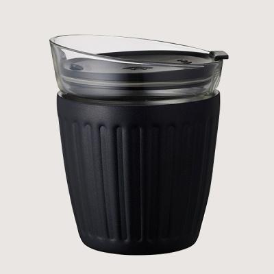 더블월 보온보냉 글라스 라떼컵 블랙