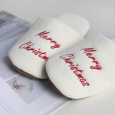 [CONZ] 메리크리스마스 자수 슬리퍼