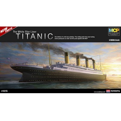 (아카데미과학 AC14215) 1/400 R.M.S. 타이타닉 [멀티 칼라 파트 에디션]  여객선 프라모델