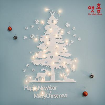 앳홈 화이트폼 크리스마스 벽트리