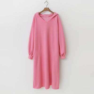 Gimo Hood V-Neck Long Dress