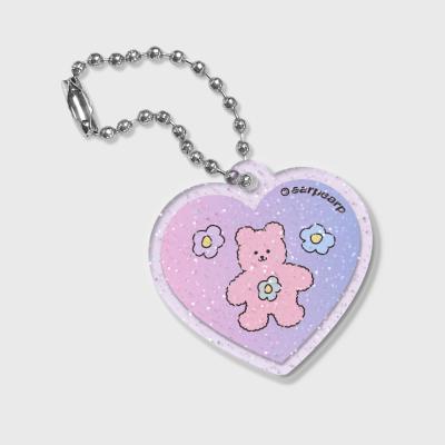 Heart Blossom bear friends(글리터키링-퍼플)