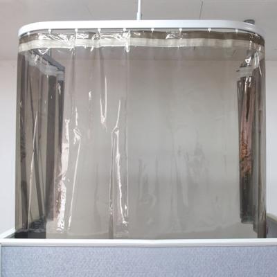비말 차단방지 방풍 비닐커튼 블랙투명 (270x110cm)