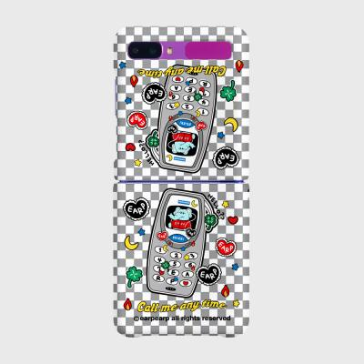 kkikki retro cell phone-gray(Z플립-하드)