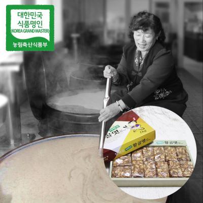 장바우 치악산 황골엿 땅콩깨조각엿 1kg/선물세트