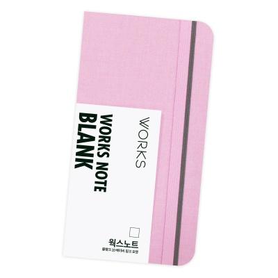 [무료 이니셜각인]웍스 노트 블랭크 10 베이비 핑크 포켓