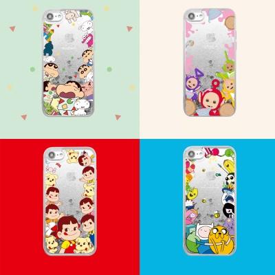 아이폰8 7 플러스 캐릭터 패턴 글리터 실리콘 케이스