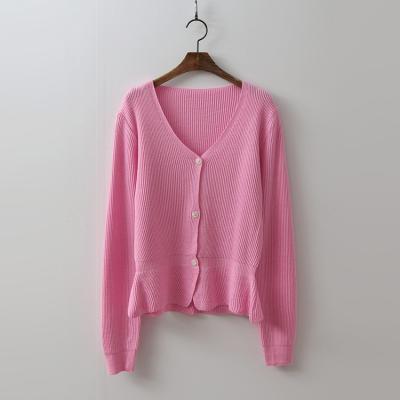 Peplum Knit Cardigan
