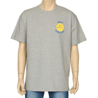 남성 여성 여름 데일리 반팔 티셔츠 스마일 프린팅