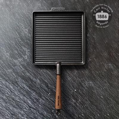 스웨덴 칼빅터 무쇠팬 사각 그릴팬 28cm
