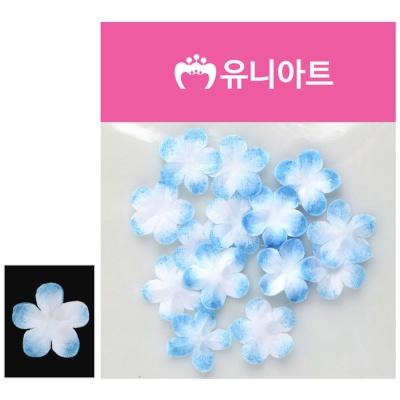 유니아트 싸리꽃 백색 파랑 장식 꾸미기 조화꽃