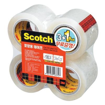 3M 스카치™ 포장용 테이프 리필 132R 3+1 투명