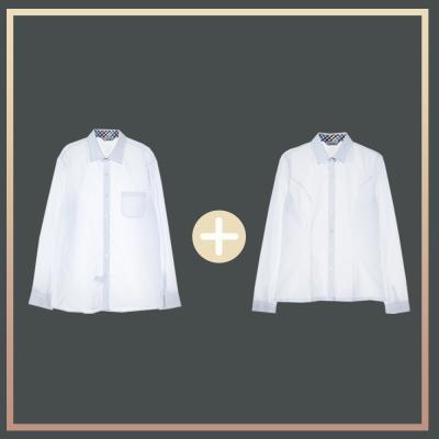 [빅사이즈] 컬러체크 프리미엄 셔츠 1+1 패키지