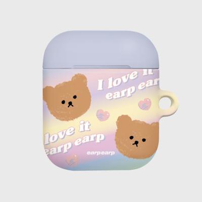 Gradation dot bear-yellow/purple(Hard air pods)
