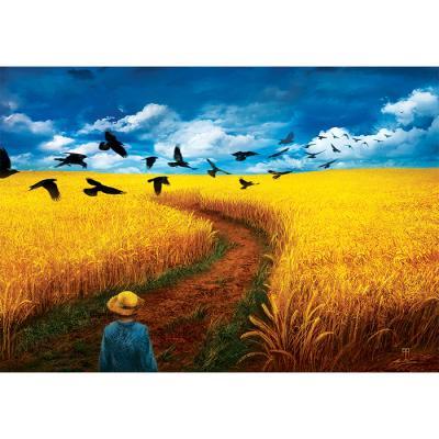 1000피스 직소퍼즐 - 까마귀가 나는 밀밭