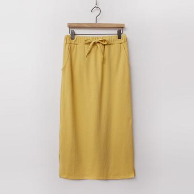 Cotton Easy Long Skirt