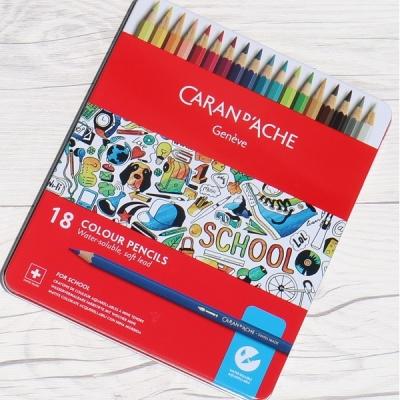 까렌다쉬스쿨라인수채색연필18색메탈케이스1290.318