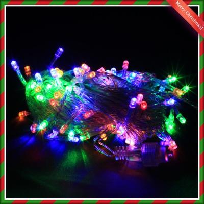 NEW 100구 투명선 LED 칼라전구(8M) (점멸有) (연결가