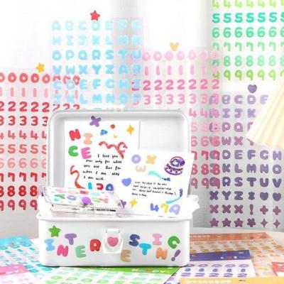 젤리 영어 알파벳 숫자 스티커 캔디시리즈