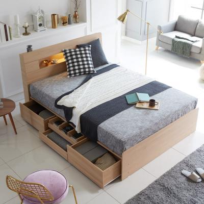 [노하우] 샤이 LED 헤드수납 서랍형 침대 Q
