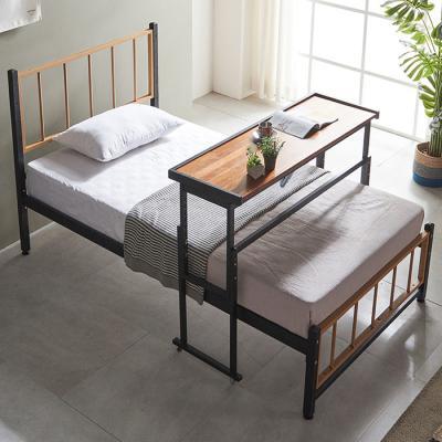 내방에 딱 철제 슈퍼싱글침대 +각도조절 원목 테이블