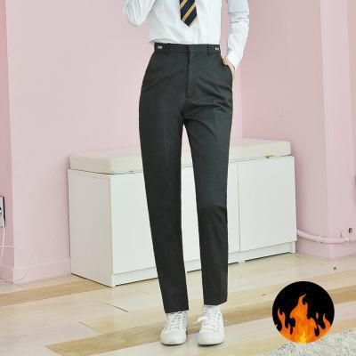 GBM (허리조절) 기모 스판 차콜 교복바지 여자 교복