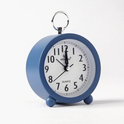 퀴리 원형 알람 탁상시계(블루)