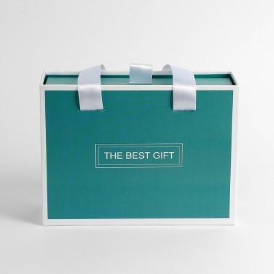 더베스트 선물상자 기프트백 그린 손잡이 포장가방