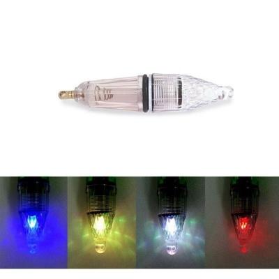 LED 집어등 투명중형12cm 4색 밝은빛 2중 실리콘링