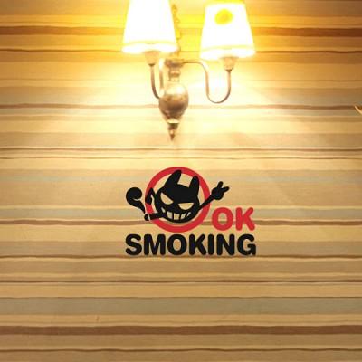 OK 스모킹 흡연스티커 2piece [포인트스티커/매장스티커]