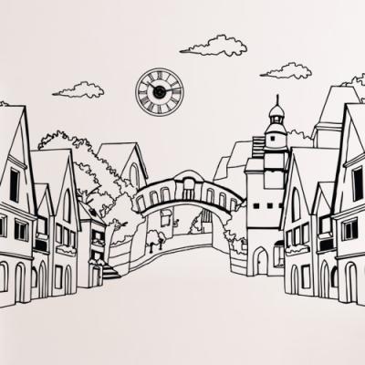 cj647-평화로운마을_그래픽스티커(중형)