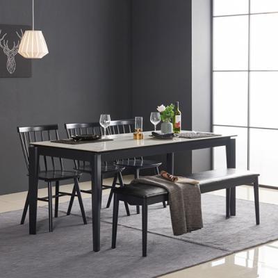 아르메 리얼스톤 세라믹 6인 식탁세트(의자3+벤치1)