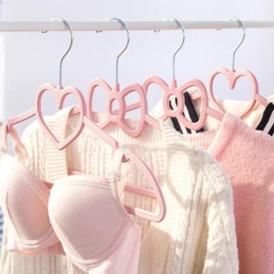 핑크 예쁜 옷걸이 2type [방 하트 리본 소품 꾸미기]