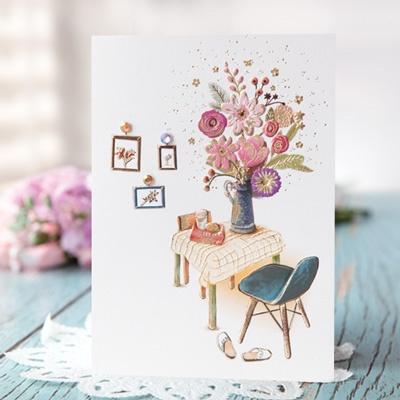 화병 속 꽃 카드 FT1036-3