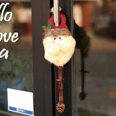 크리스마스 문고리 인형장식 (산타)