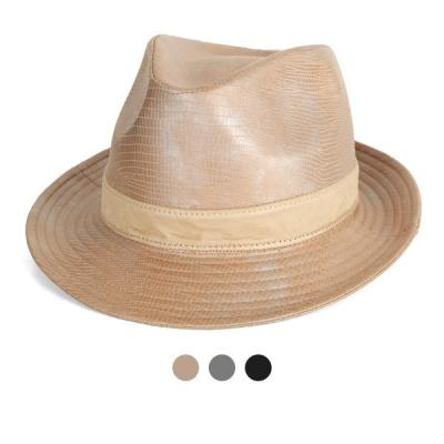 [디꾸보]유럽피안 배색 띠 페도라 모자 JAN350