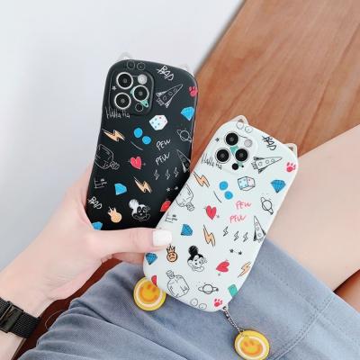 아이폰12 11 pro max xs 8 고양이귀 키링 젤리 케이스