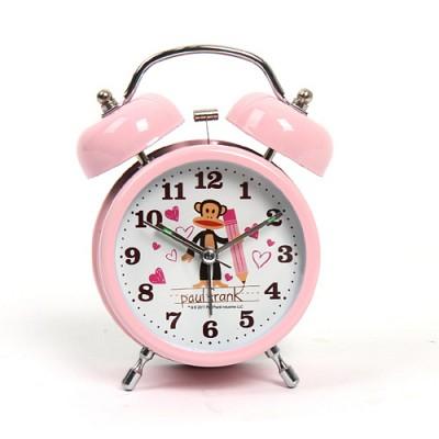 폴프랭크 열공 알람 탁상시계(핑크)