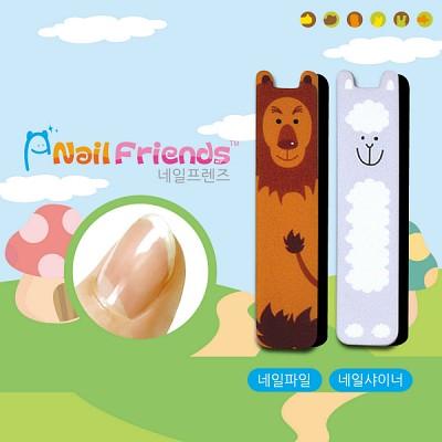 네일파일 and 샤이너 (Mini Friends-라이 and 양이)