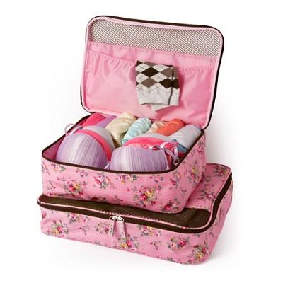 플로라 핑크 여행가방 세트