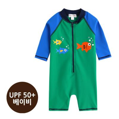 [베이비수영복] 그린피쉬수영복_(UPF50+) 영유아수영복 수트수영복