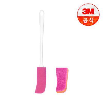 [3M]플라스틱병용 보틀 수세미(핸들 1입+리필 1입)+리필 1입