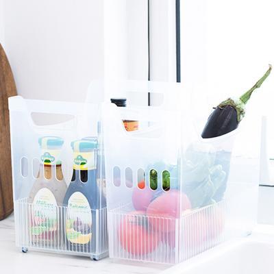 투명 냉장고 손잡이 다용도 소품 수납 정리함 (대)