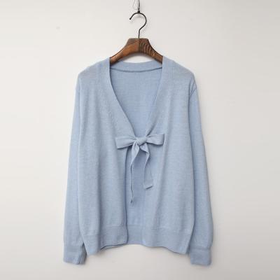 Wool N Cashmere Tie Cardigan