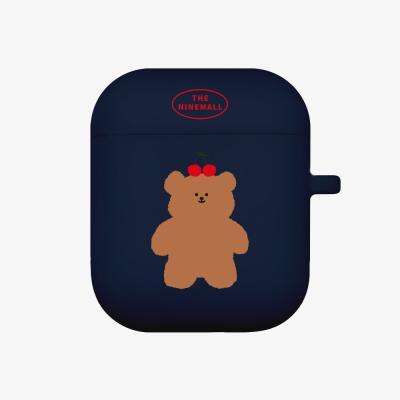 cherry slow bear 에어팟 케이스 [navy]