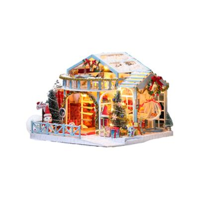 DIY 미니어처하우스 눈 내리는 집