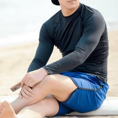 남성 남자 래쉬가드 비치웨어 수영복 솔리드 티셔츠