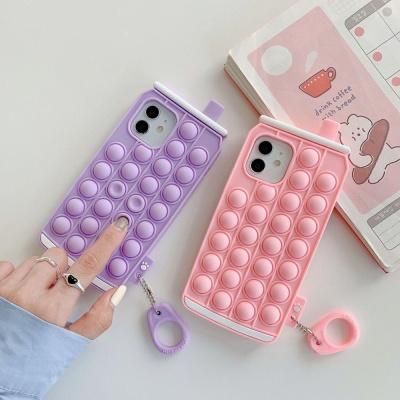 아이폰12 11 PRO MAX 캔음료 팝잇 푸쉬팝 키링 케이스