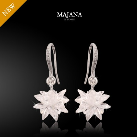 F29.Snow flower crystal earring